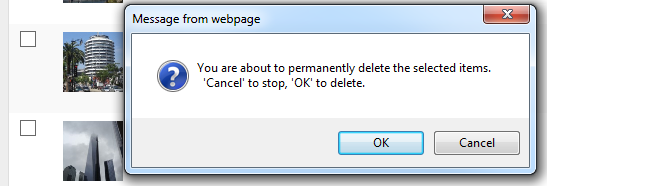 Deleting an image