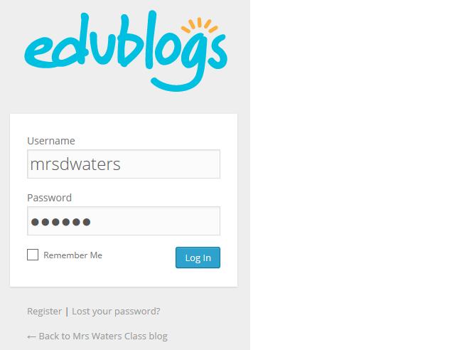 Add your login details
