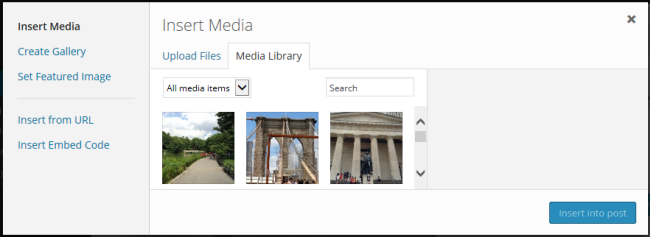 Media Library Tab