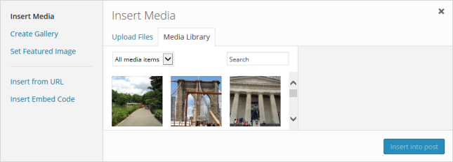 Click on Media Library