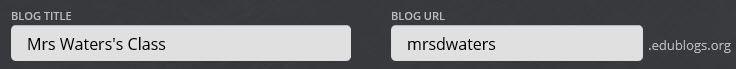 Add blog URL