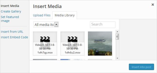 Click on Media Library