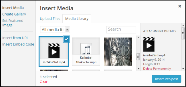 Select the video file