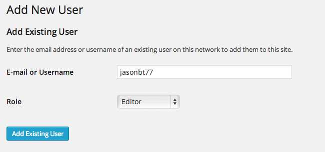 Add existing user