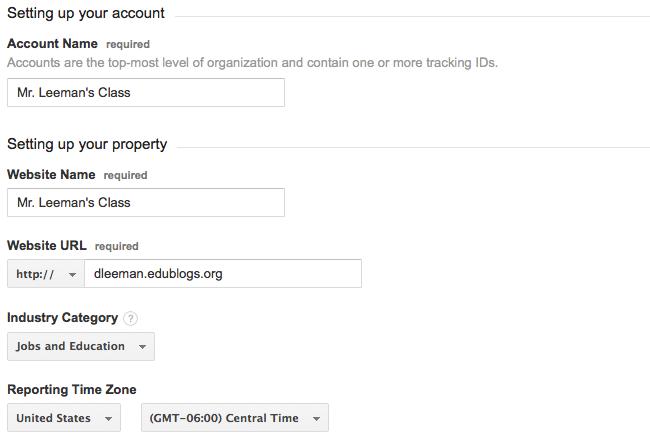 Analytics - Account setup