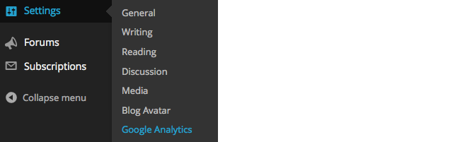 Analytics - Settings