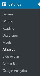 Akismet Settings