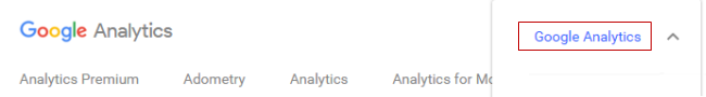 Click on Google Analytics