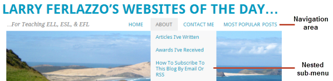 Page links in header