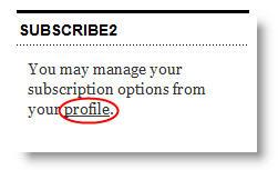 Image of manage profile on widget