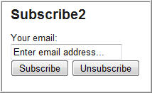 Image of subscribe widget