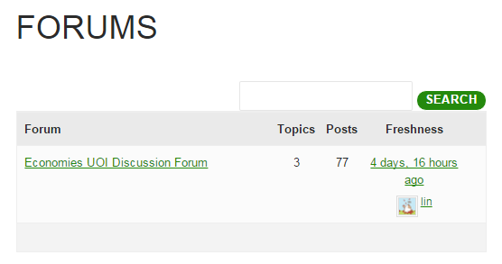 Forum page
