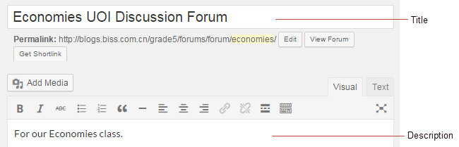 Add forum title