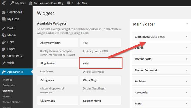 Wiki widget