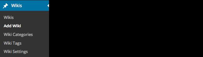 Wikis - Add wiki