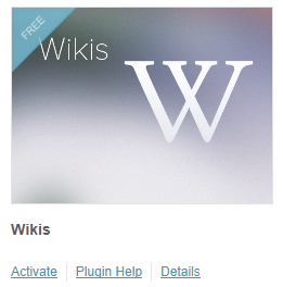 Activate the wiki plugin