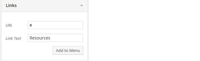 Static page tab