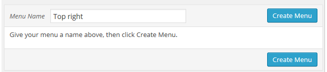 Click Create new menu