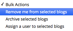 Remove me from selected blogs