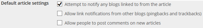 Disable Comments on new articles