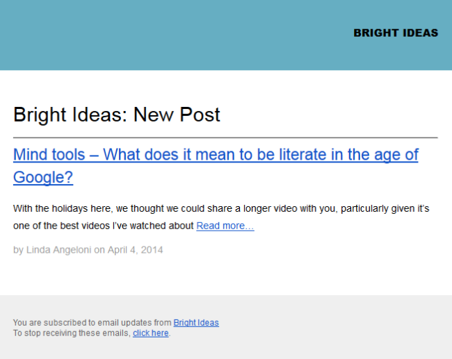 Set up email subscription – Edublogs Help and Support