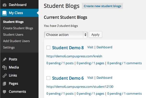 My Class - Student Blogs