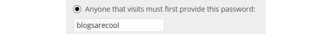 Password option