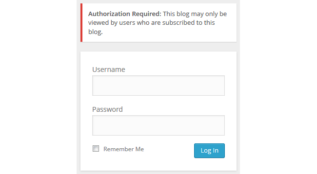 Logged in registered users