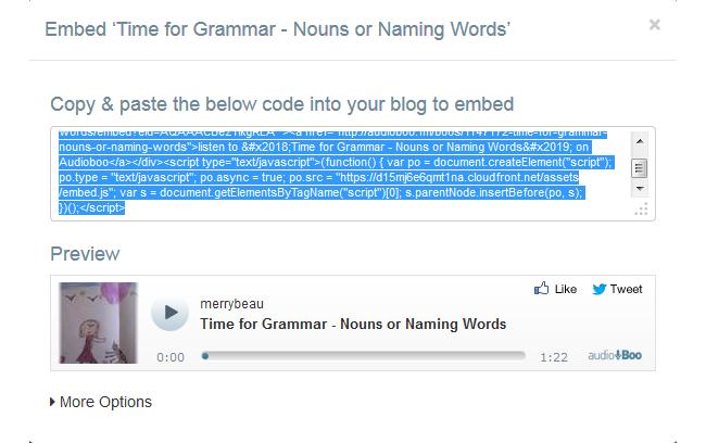 Copy Embed code
