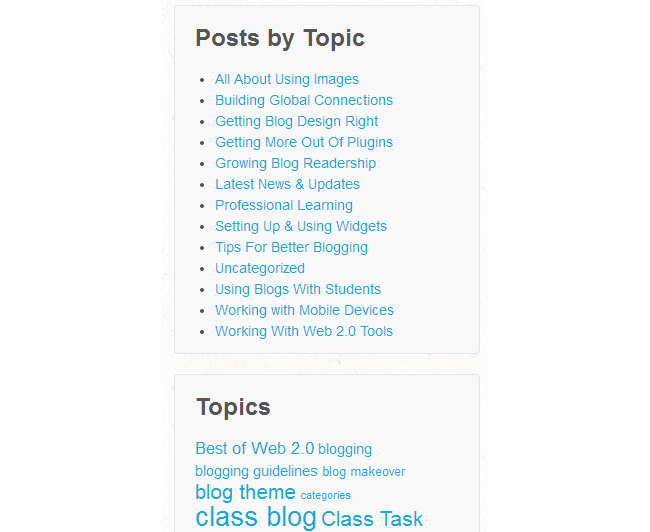 Category Blogs  >> Categories Vs Tags Edublogs Help And Support