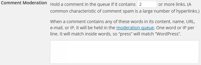 Comment moderation