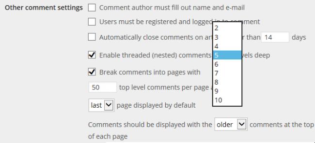 Thread comment option