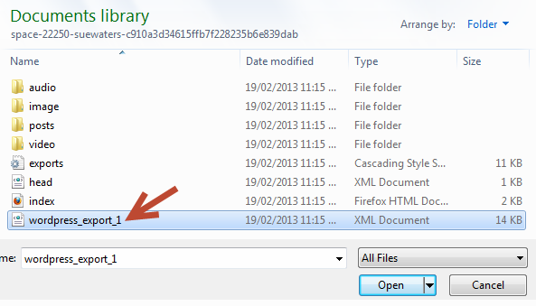 Select your XML File