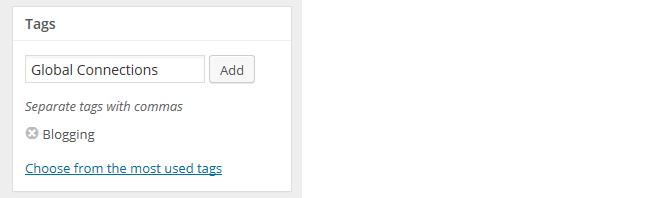 Adding a tag