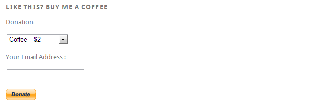 PayPal donation widget