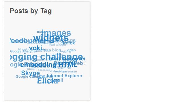 3D Tag Cloud Widget