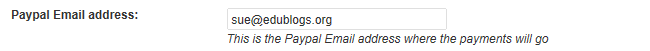 Add your PayPal email address