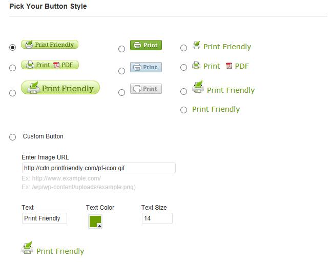 Print button style