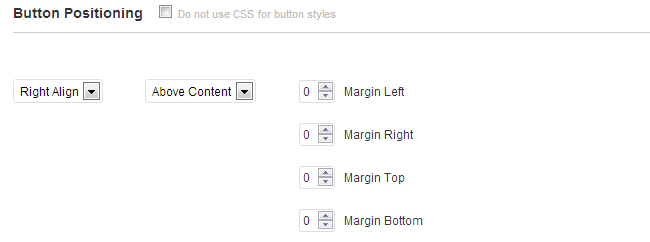 Specify your button positioning