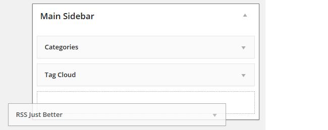 Add RSS just Better widget