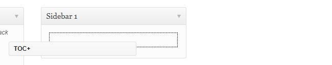 Add the TOC widget