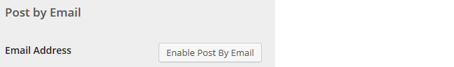 Click on Enable Post by Email
