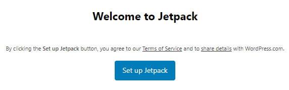 Click on Set up Jetpack