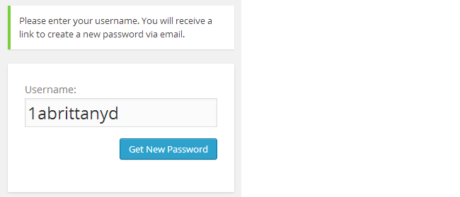 Click Get new password