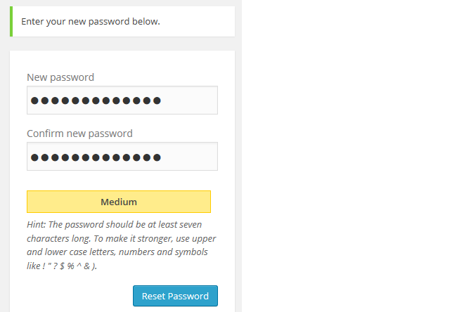 Add your new password