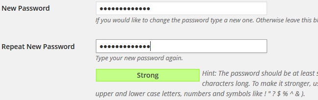 Add new password