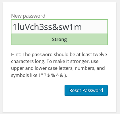 Own password