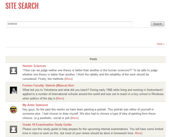 Site search example