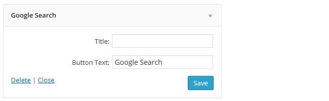 Google Search widget settings