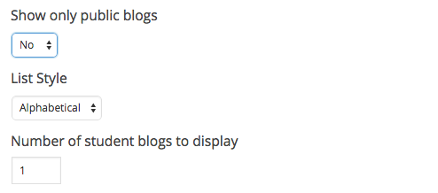 My Class blogs